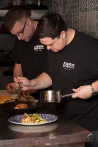 James Sherriff, executive sous chef and Callum Phillip, executive head chef